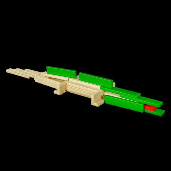 Gioco mattoncini legno coccodrillo